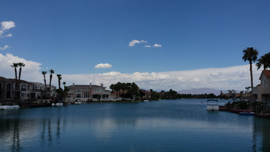 The view from the park at The Lakes in Las Vegas.